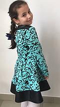 """Детское трикотажное платье """"Аня"""" с узором и длинным рукавом (3 цвета), фото 3"""
