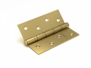 Петля дверная универсальная врезная FUARO 4BB 125x75x2,5 SB (мат. золото), 1 шт