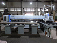 Пильный центр Holzma HPL380/43/22 б/у для пакетного раскроя плит, 2009 г.