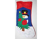 Новогодний плюш, сапог для подарков ПШ622-6