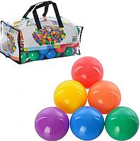 Набор мячей 49602 (6упк) 1упк-100шт, D=6,5см, 6 цветов в сумке, 42-19-25см