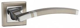 Ручка дверная на раздельном основании Punto - Navy QL SN/CP 3 (матовый никель - хром)