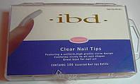 Типсы IBD 100шт френч с короткой и полной контактной зоной.
