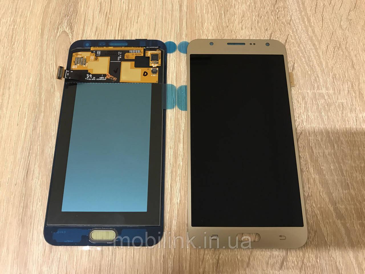 Дисплей на Samsung J700 Galaxy J7 Золото(Gold),GH97-17670B, Super AMOLED!