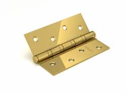 Петля дверная универсальная врезная FUARO 4BB 100x75x2,5 PB (латунь), 1 шт