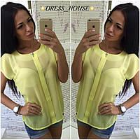 Женская шифоновая блузка с короткими рукавами