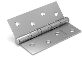 Петля дверная универсальная врезная FUARO 4BB 100x75x2,5 PN (перл. никель), 1 шт.