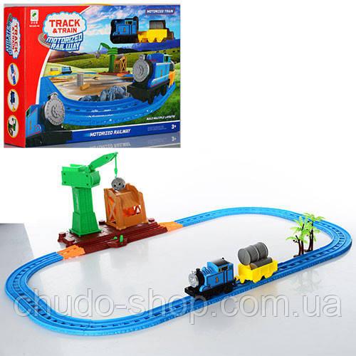 ЖД 660-46 (15шт) TH, локомотив, вагон, кран, на бат-ке, в кор-ке, 45-29,5-9см