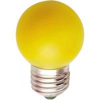 """Светодиодная лампа Feron LB37 Е27 1W типа G45 """"шар"""" жёлтый для  декоративного освещения"""