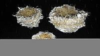 Декор - три гнездышка из джута, 35/30, от 8 до 4 см (цена за 1 шт. + 5 гр.)