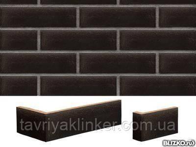 Плитка клинкерная облицовочная King Klinker (17) Ониксовый черный 250х65х10