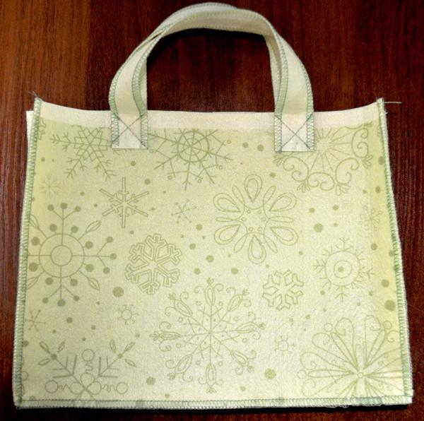 Подарункова сумочка з фетру 003.