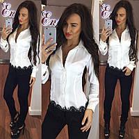 Блуза с ажуром Zara из шелка Armani на пуговках