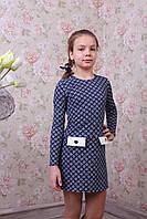 """Трикотажное платье для девочки """"Анна"""""""