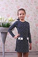 """Трикотажное платье для девочки """"Горошек"""""""