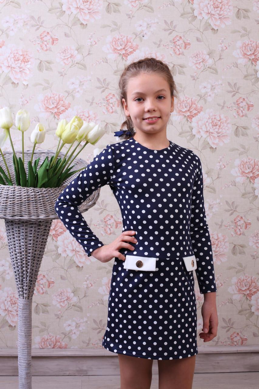 """Трикотажное платье для девочки """"Горошек"""" - Швейная фабрика детской и женской одежды """"Ника"""" в Хмельницком"""
