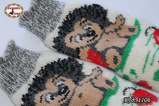 Женские шерстяные носки Ежик, фото 3