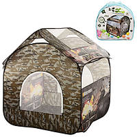 Палатка M 2501 (18шт) домик 100-100-100 см, 4 окна, 1 вход на змейке, в сумке, 41,5-41,5-6,5см