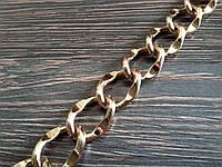 Цепь декоративная метражная метал №11 ширина 19мм цвет золото