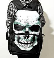 Черный городской рюкзак с черепом, фото 1