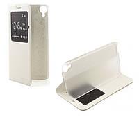 Чехол-подставка для HTC Desire 820, White, с окошком