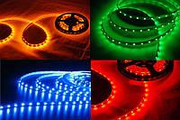 Светодиодная лента 5050, 12В, 5 м, белая, желтая, синяя, зеленая, красная