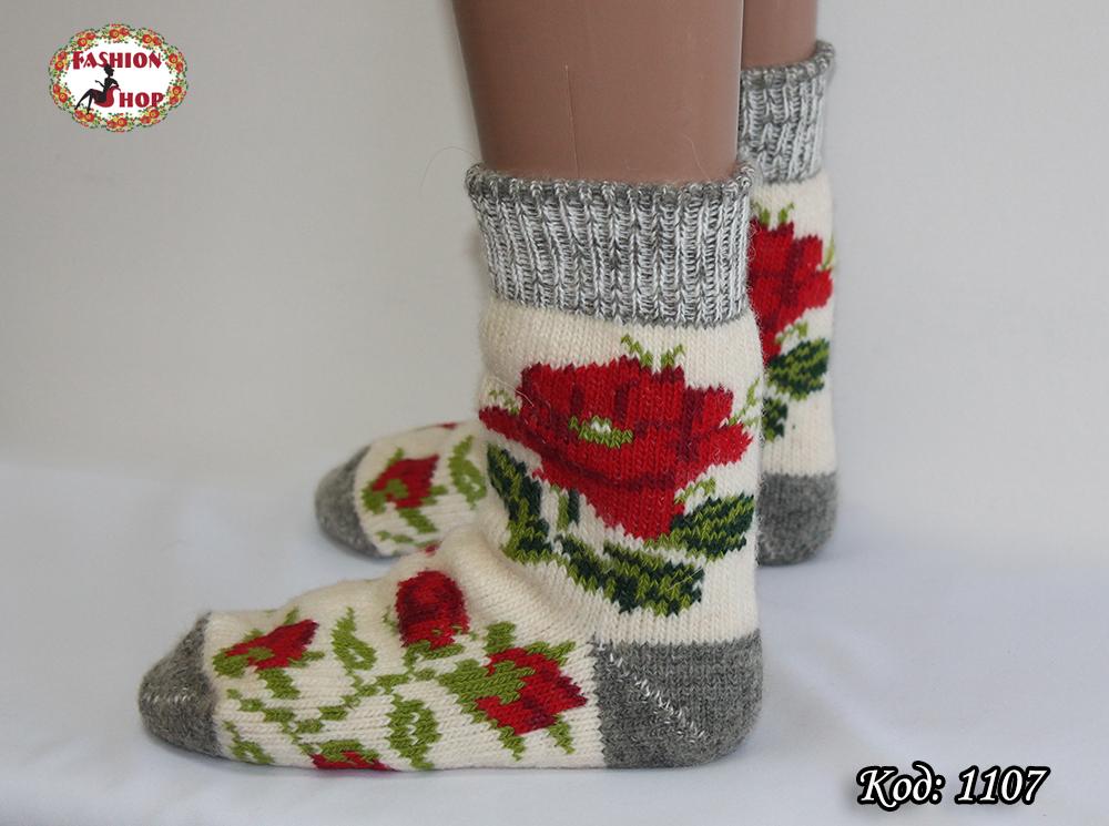 Женские шерстяные носки Маки