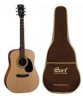 Акустическая гитара с чехлом CORT AD810E (NS)  w/bag