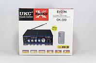 Интегральный двухканальный усилитель для караоке UKC OK-309, пульт ДУ, поддержка USB, SD/MMC карт