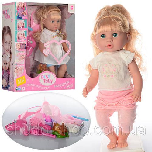 Кукла 30720-10C-18C (8шт)  42см,зв,горш,фен,бутылочка,,миш-пищалк,2в,на бат-ке(таб),кор,38,5-41-15см