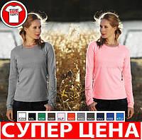 ЖЕНСКАЯ футболка с длинным рукавом 100% хлопок KEYA WCLS205