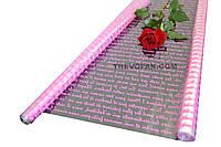 """Пленка для цветов """"Французское письмо розовый"""" 0,7 кг*600мм"""