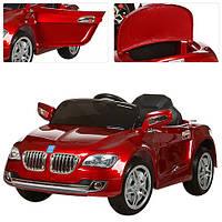 Детский электромобиль BMW M 3152 EBRS-3 вишневый, мягкие колеса и автопокраска