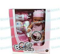 Кукла пупс Baby Bonnie (Baby Born) интерактивный, 12 звуков, бутылочка, горшок, писает, памперс