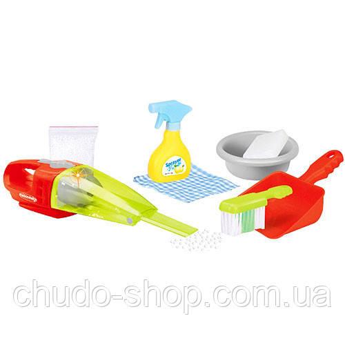 Набор для уборки 14057 (18шт) пылесос-свет,на бат-ке, щетка, миска, совок, в кор-ке,39,5-31-9см