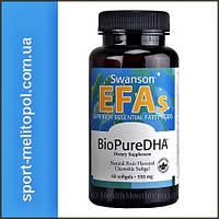 Swanson BioPure DHA Fish Oil 550 mg 60 softgels
