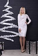 Платье женское с молнией  белое