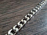 Цепь декоративная метражная металл №28 ширина 9мм цвет никель