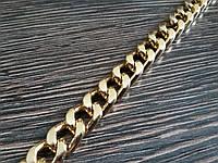 Цепь декоративная метражная металл №28 золото ширина 9мм цвет