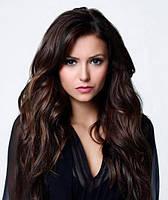 Волосы на заколках 100 г 50 см, цвет чёрно-коричневый (№ 1B)