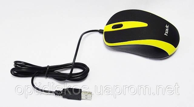 Оптическая мышь HAVIT HV-MS 675 Желтая