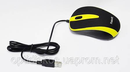 Оптическая мышь HAVIT HV-MS 675 Желтая, фото 2