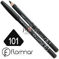 FlorMar - Карандаш для глаз водостойкий Тон №101 black матовый, фото 2