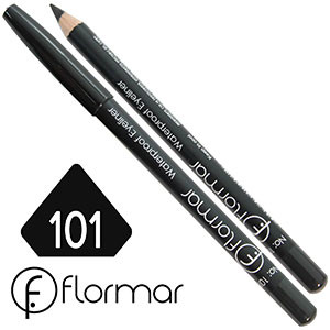 FlorMar - Карандаш для глаз водостойкий Тон №101 black матовый