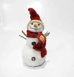 Новогодняя декоративная фигура Снеговик 19см