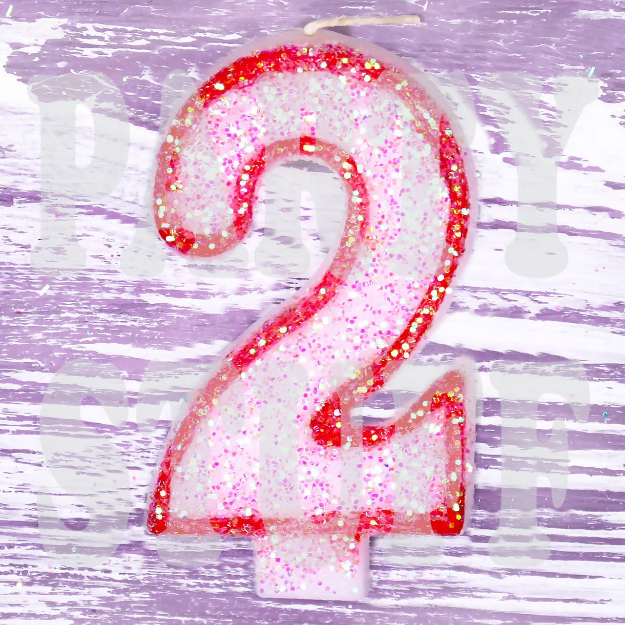 Свеча цифра 2