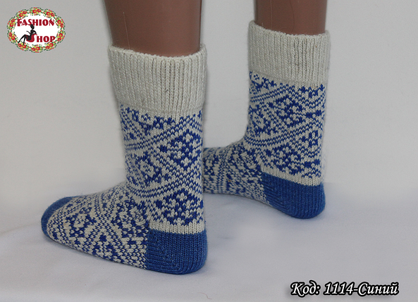 Женские шерстяные носки Геометрия, фото 2