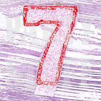 Свеча цифра 7 для торта