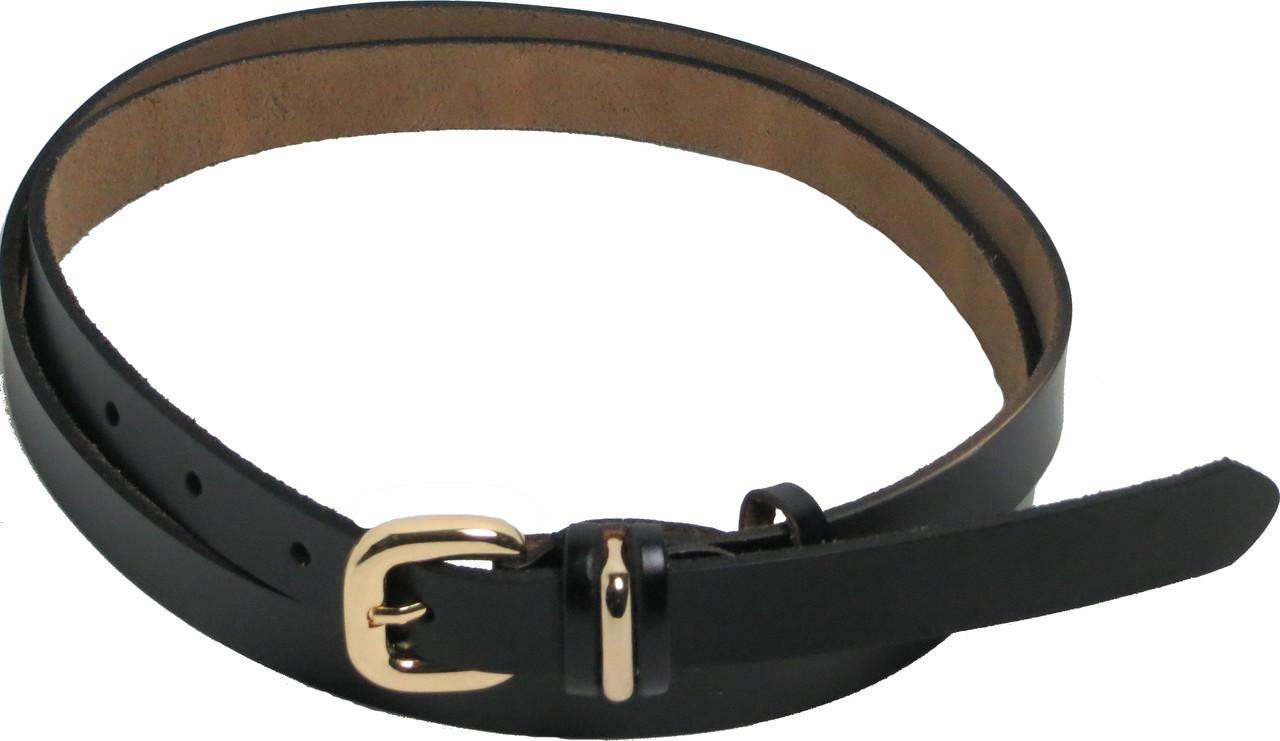 Женский узкий кожаный ремень FLX 3026 черный