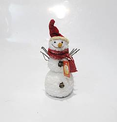 Новогодняя декоративная фигура Снеговик 24см